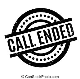 Call Ended rubber stamp. Grunge design with dust scratches....
