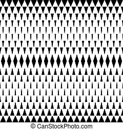 Seamless Rhombus Pattern. Vector Black and White Background