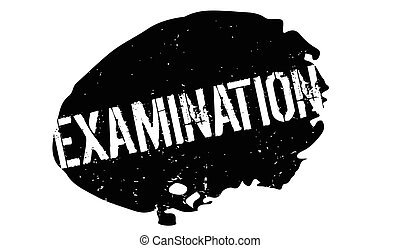Examination rubber stamp. Grunge design with dust scratches....