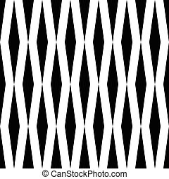 Seamless Rhombus Pattern. Vector Monochrome Background....