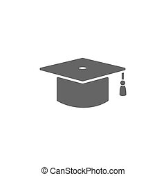 Mortarboard icon on a white background