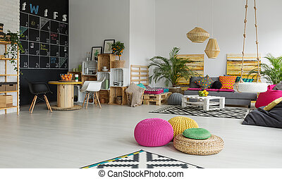 Relax zone in office - Colorful creative relax zone and...