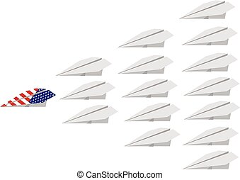 White aerial fleet an American plane
