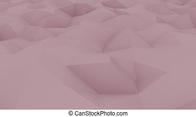 Edge and vertex polygonal pink motion background for reports...