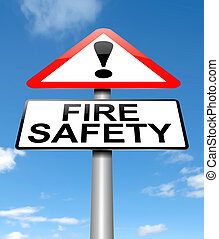 Fire safety concept.