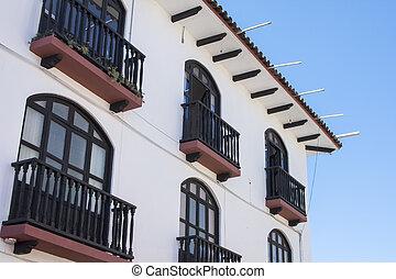Colonial style in San Cristobal de las Casas, Chiapas -...