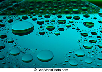 water drops - Background of water drops