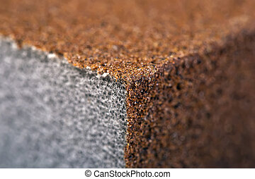 Sandpaper / Abrasive Sponge. Close-Up. Macro. Texture,...