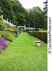 English Garden - Ehglish garden of Dunrobin Castle,...