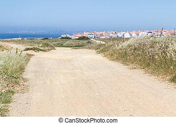 Road to Porto Covo village, Alentejo, Portugal