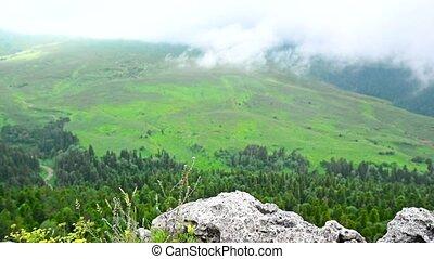 berg, Ansicht, Wiese,  lago-naki, landschaftlich