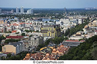 Old Podil district of Kiev, Ukraine