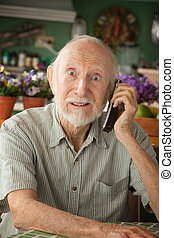 Senior man on telephone