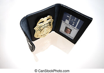 FBI Badge - An FBI badge on the table