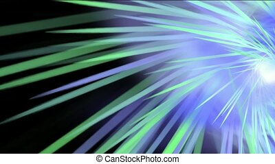 whirl ray light in space