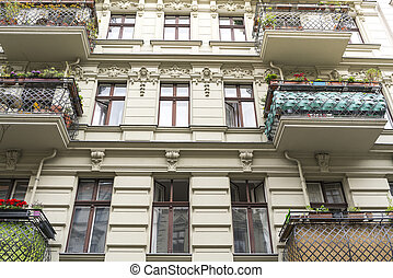 beautiful old house with balconies in Berlin Kreuzberg
