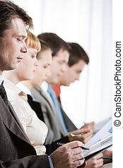 Business training - Profiles of business people with their...