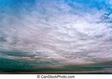 Sky with thunderclouds, rain clouds natural composition