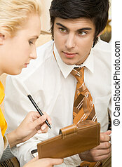 Gazing - Portrait of confident businessman looking at his...