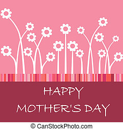 Happy mothers day card with flower - Vector hand lettered...