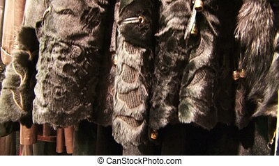 Fashion furs - Stylish clothing made of leather and fur...