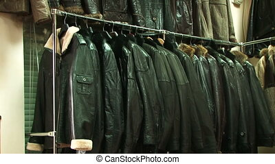 Winter Jackets - Stylish clothing made of leather and fur...