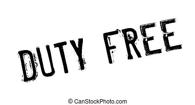 Duty Free rubber stamp. Grunge design with dust scratches....