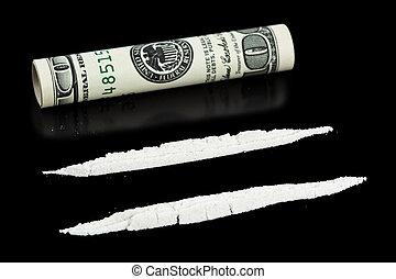 cocaína, Dinheiro