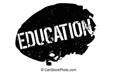 Education rubber stamp. Grunge design with dust scratches....