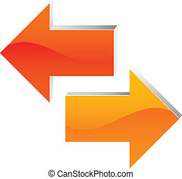 left and right arrow - icon of left and right arrow