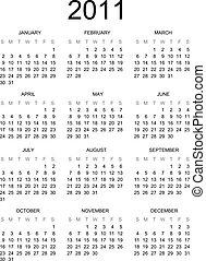 Calendar 2011 english