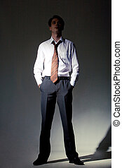 Businessman - Successful businessman standing in the...