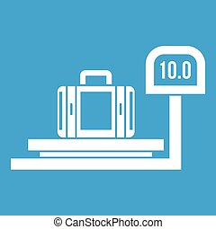 Luggage weighing icon white