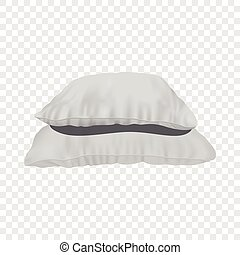 Stack of pillows mockup, realistic style