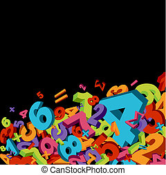 Abstract numbers background - Abstract mathematics...