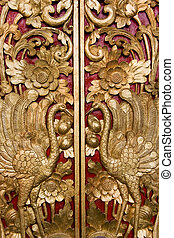 Door Carving at Pura Masceti, Bali, Indonesia - Image of...