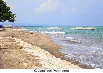 Kuta Beach, Bali, Indonesia - Image of Kuta Beach at the...