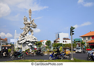Giant Statue at Kuta Roundabout, Bali, Indonesia - Image of...