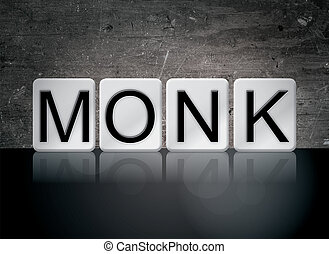 Monk Concept Tiled Word - The word Monk concept and theme...