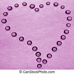 Drops in the form of heart