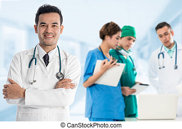 Medical people group - Doctor, Nurse and Surgeon