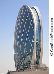 Saucer Shaped Building, Abu Dhabi, UAE - Image of a unique...