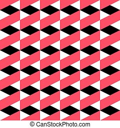 66-2 - Seamless ZigZag Pattern. Abstract Black and Red...