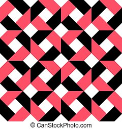 66-3 - Seamless Grid Pattern. Vector Black and White...