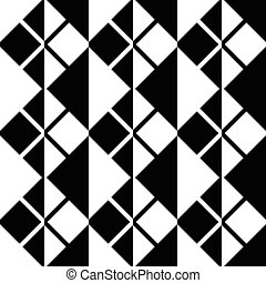 Seamless Square and Stripe Pattern. Abstract Monochrome...