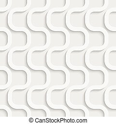 Seamless Wave Pattern. Vector Soft Background. Regular White...