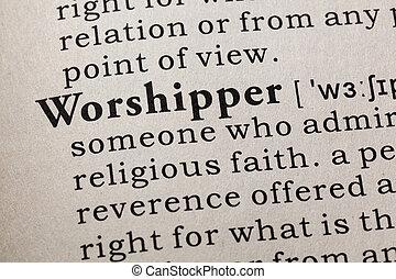 definição, adorador