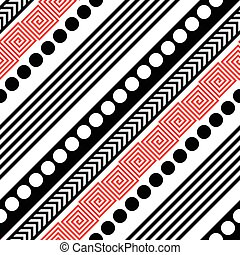 Seamless Diagonal Stripe Pattern. Vector Black and Red...