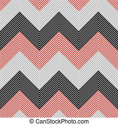 Seamless Zig Zag Pattern. Abstract Black and Red Background....
