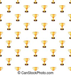 Gold trophy cup pattern
